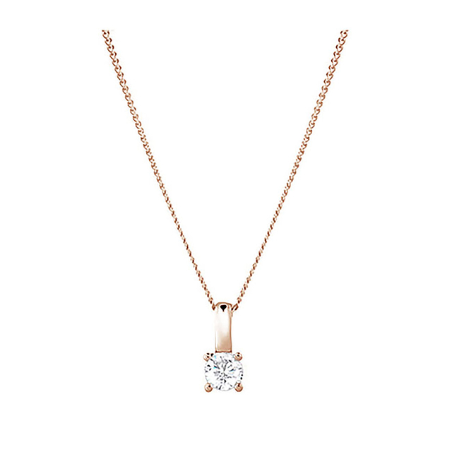 9ct Rose Gold 0.15ct Brilliant Cut Pendant