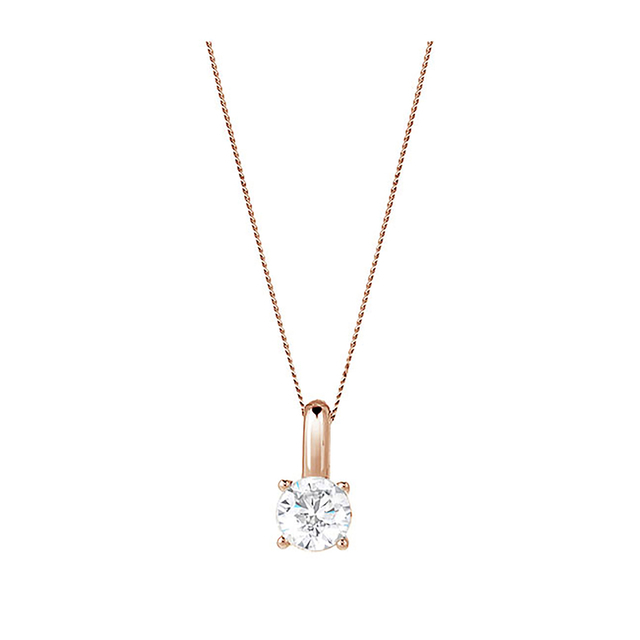 9ct Rose Gold 0.70ct Brilliant Cut Pendant