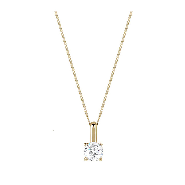 18ct Yellow Gold 0.50ct Brilliant Cut Pendant