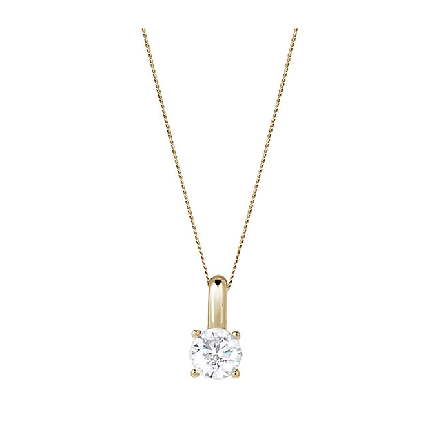 9ct Yellow Gold 0.70ct Brilliant Cut Pendant