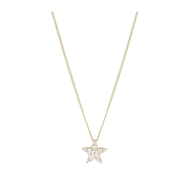 9ct Yellow Gold 0.15ct Diamond Star Pendant