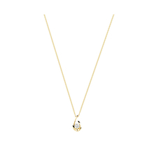 9ct Yellow Gold 0.15ct Diamond Swoop Pendant