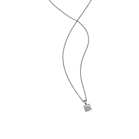 Libretto 18ct White Gold 1.00ct Diamond Pendant
