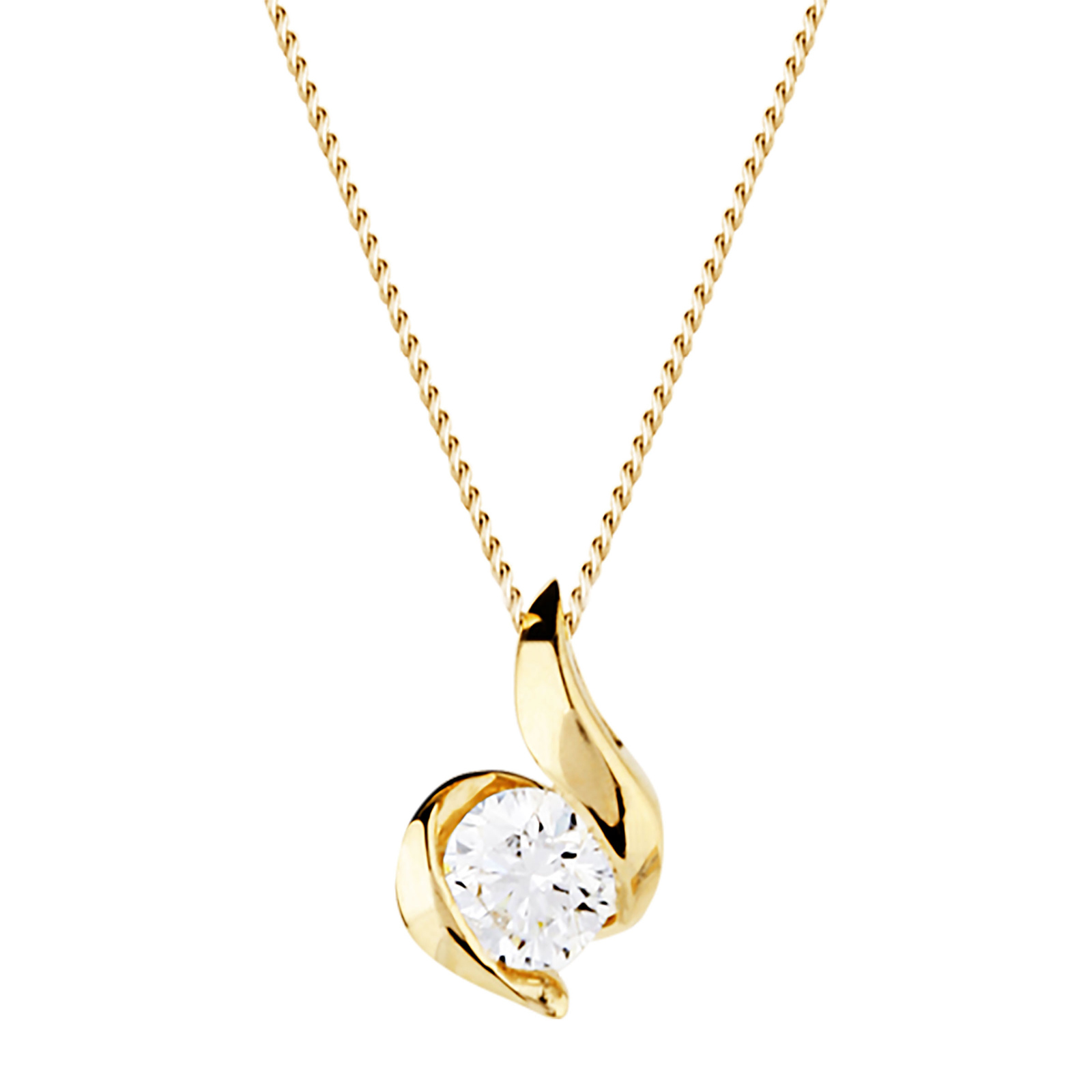 9ct Yellow Gold 0.10ct Wrapped In Love Diamond Pendant