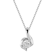 9ct White Gold 0.10ct Wrapped In Love Diamond Pendant