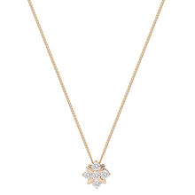 9ct Yellow Gold 0.20 Carat Total Weight Diamond Flower Pendant
