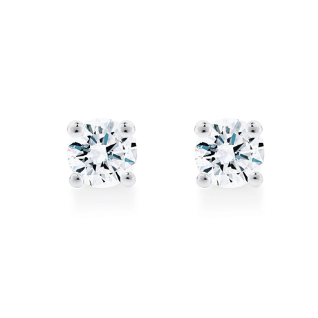Libretto 18ct White Gold 0.50cttw Diamond Stud Earrings