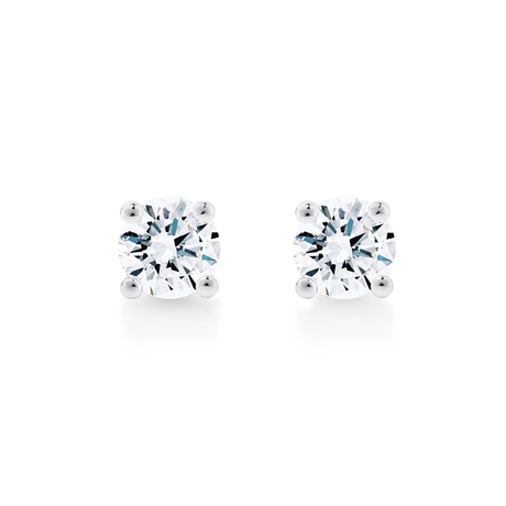 Libretto 18ct White Gold 0.80ct Diamond Stud Earrings