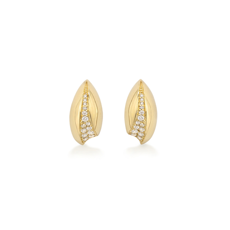 Wildfell 18ct Yellow Gold Diamond Set Earrings