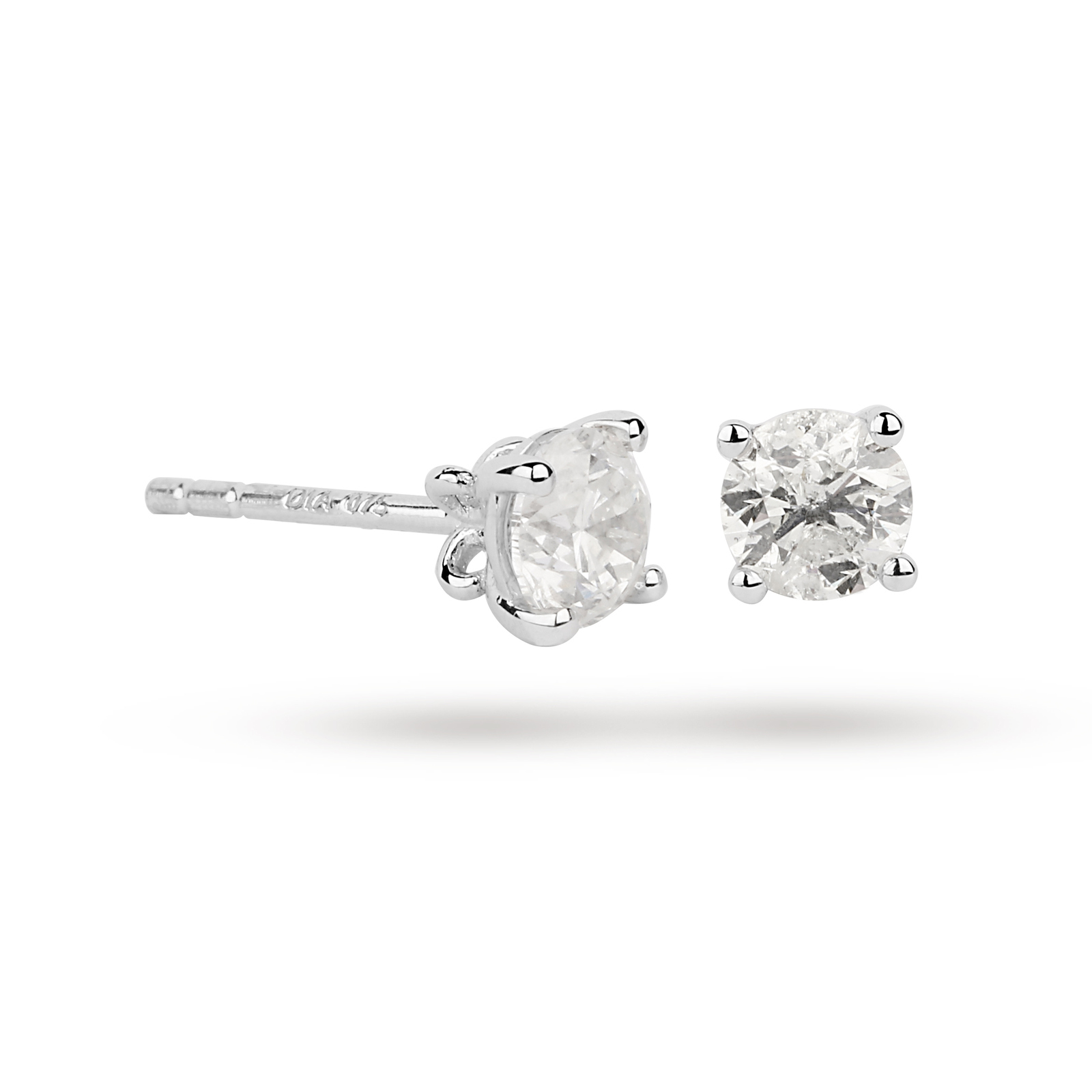 18ct White Gold 0.75ct Brilliant Cut Stud Earrings