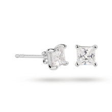 18ct White Gold 0.50ct Princess Cut Stud Earrings