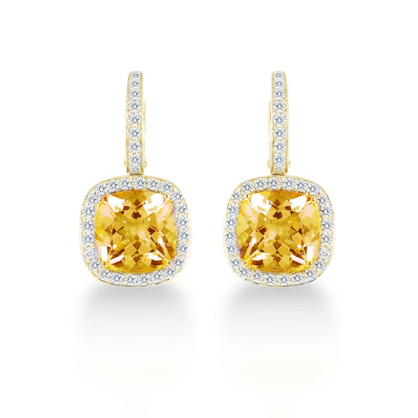 Carrington 18ct Yellow Gold 4.70cttw Citrine and 0.60cttw Diamond Drop Earrings