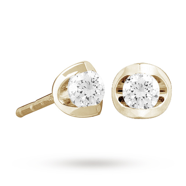 18ct Yellow Gold 0.50ct Tension Set Diamond Earrings