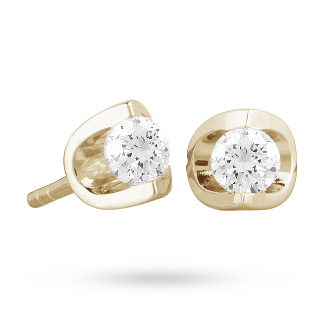 18ct Yellow Gold 0.30ct Tension Set Diamond Earrings