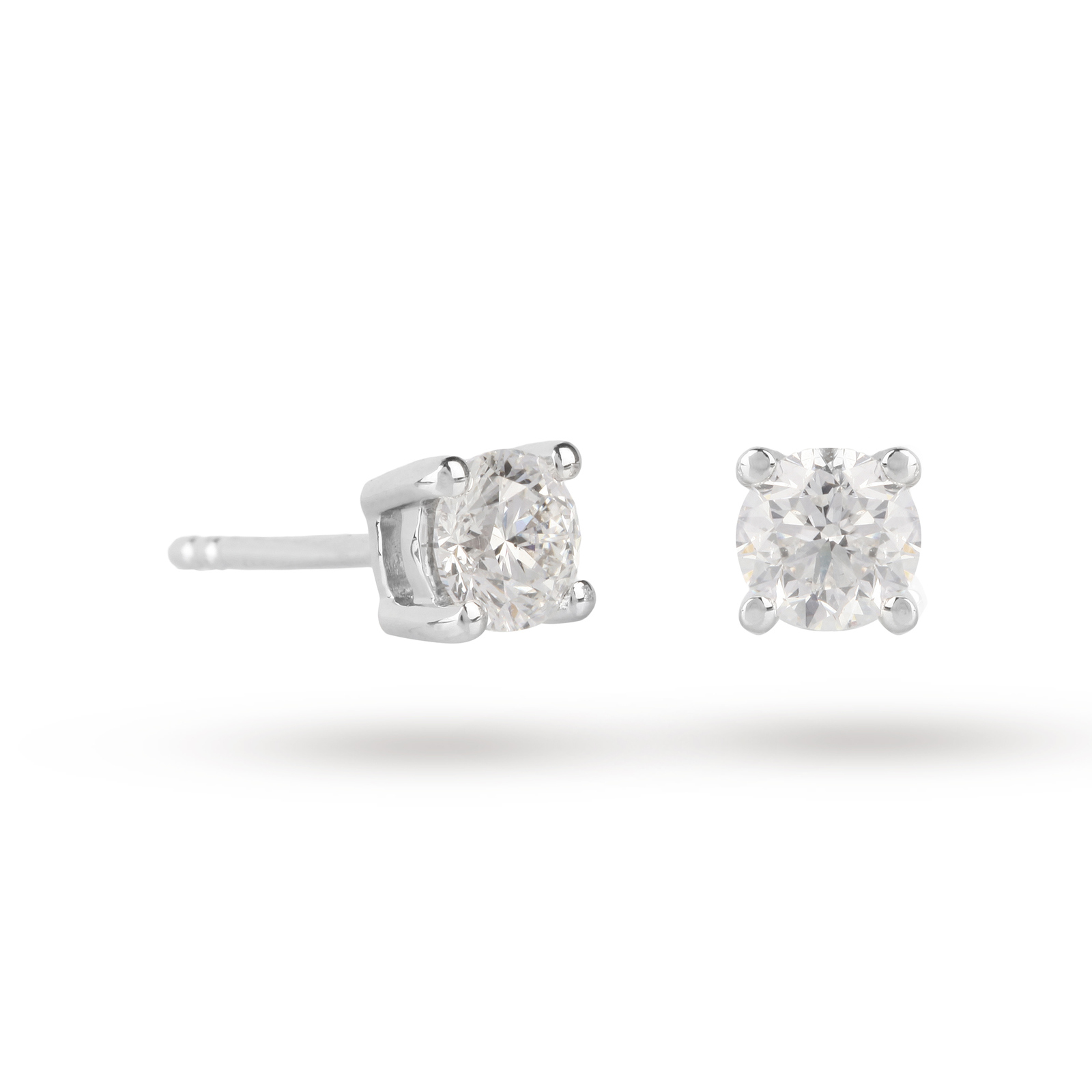 18ct White Gold 1.00ct Brilliant Cut D Colour Diamond Earrings