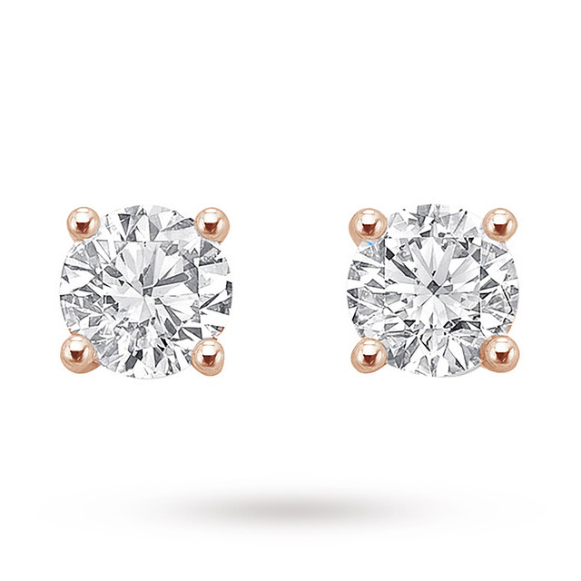 18ct Rose Gold 0.50ct Brilliant Cut Stud Earrings