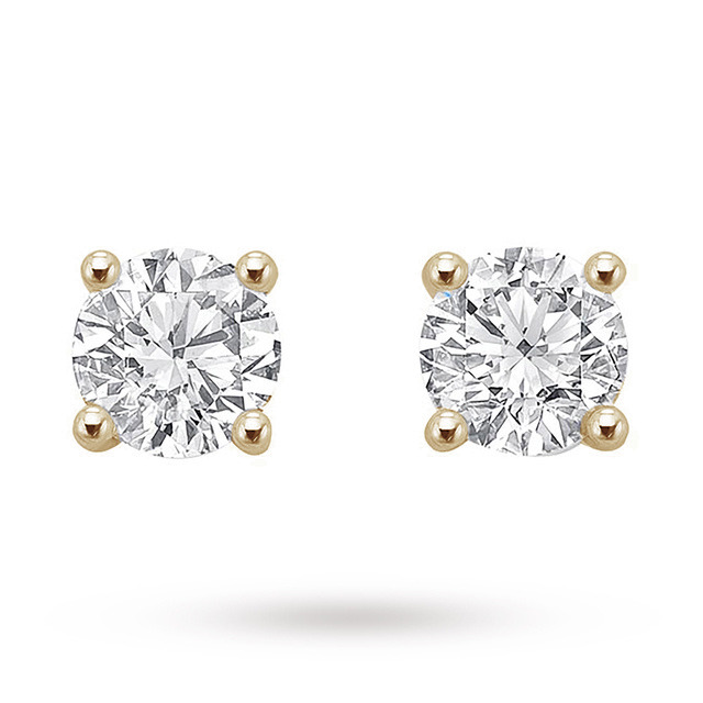 18ct Yellow Gold 0.50ct Brilliant Cut Stud Earrings