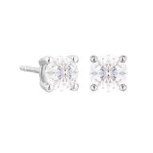 18ct White Gold 1.00ct Diamond Solitaire Studs
