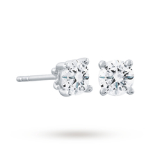 18ct White Gold 1.00cttw Solitaire Earrings