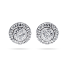 9ct White Gold 0.20ct Diamond Halo Stud Earrings