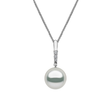 Yoko 18ct White Gold 11mm Cultured Pearl 0.06ct Pendant