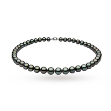 Yoko 18ct White Gold 9-10mm Tahitian Pearl Necklet