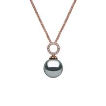 Yoko 18 carat Rose Gold 0.09ct Diamond Tahitian Pendant
