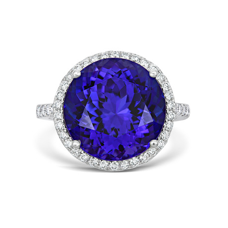 18ct White Gold and Diamond Ring with 13.14ct Tanzanite