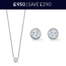 For Her - Gossamer 18 Carat White Gold Necklace and Earrings 0.32 Total Carat Weight Set