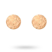 9ct Rose Gold Texture 4mm Stud Earrings