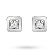 9 Carat White Gold Cubic Zirconia Square Stud Earrings