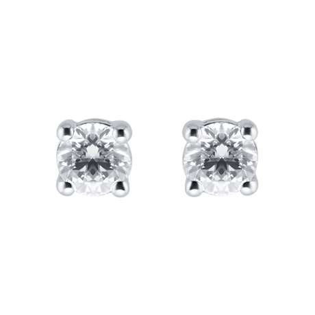 For Her - 9ct White Gold 6mm Cubic Zirconia Stud Earrings - DG41016600WH