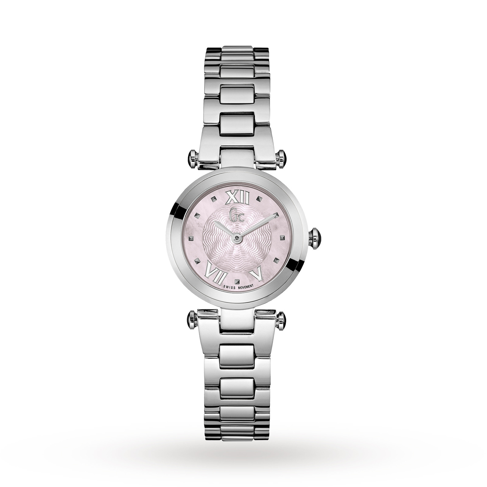 Gc Y07001L3 Ladychic Silver Tone Watch