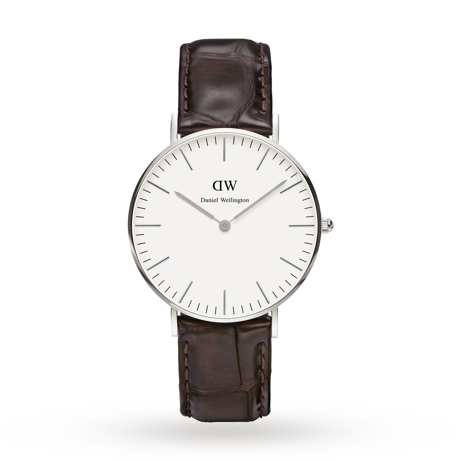 Daniel Wellington Ladies' York Silver 36mm Watch
