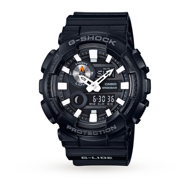 Mens G-Shock World Time Black Resin Strap Watch GAX-100B-1AER