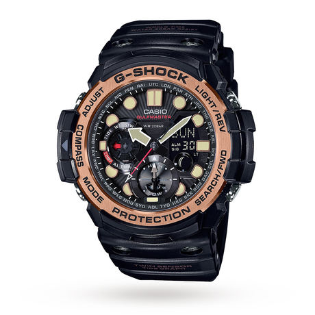 Casio G-Shock Gulfmaster Master Of G Vintage Black And Alarm Chronograph Watch