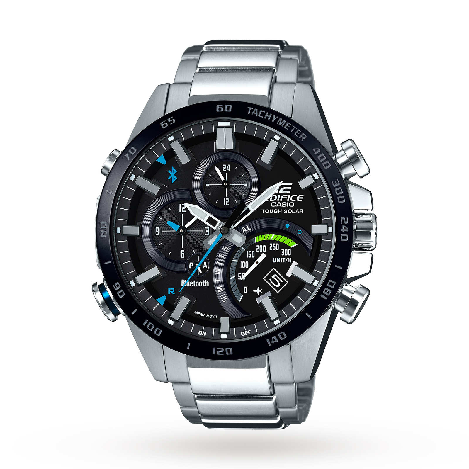 Casio Men's Edifice Bluetooth World Traveller Alarm Chronograph Solar Powered Watch