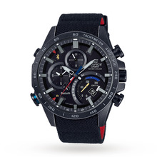 Casio Men's Edifice Eqb-500 Scuderia Toro Rosso Black Limited Edition Alarm Chronograph Solar Powered Watch