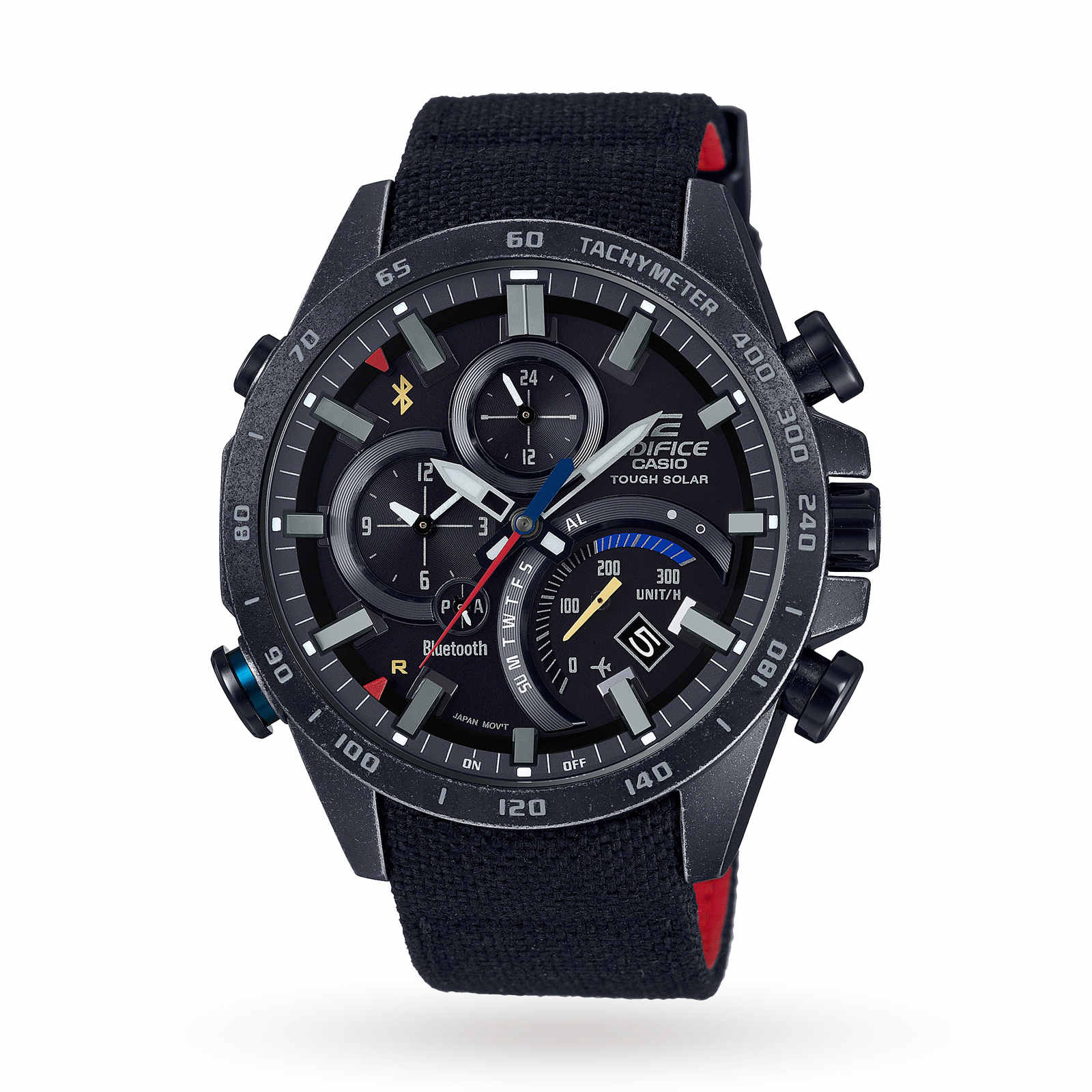Casio Men's Edifice Eqb-500 Scuderia Toro Rosso Black Limited Edition Alarm Chronograph Solar Powere