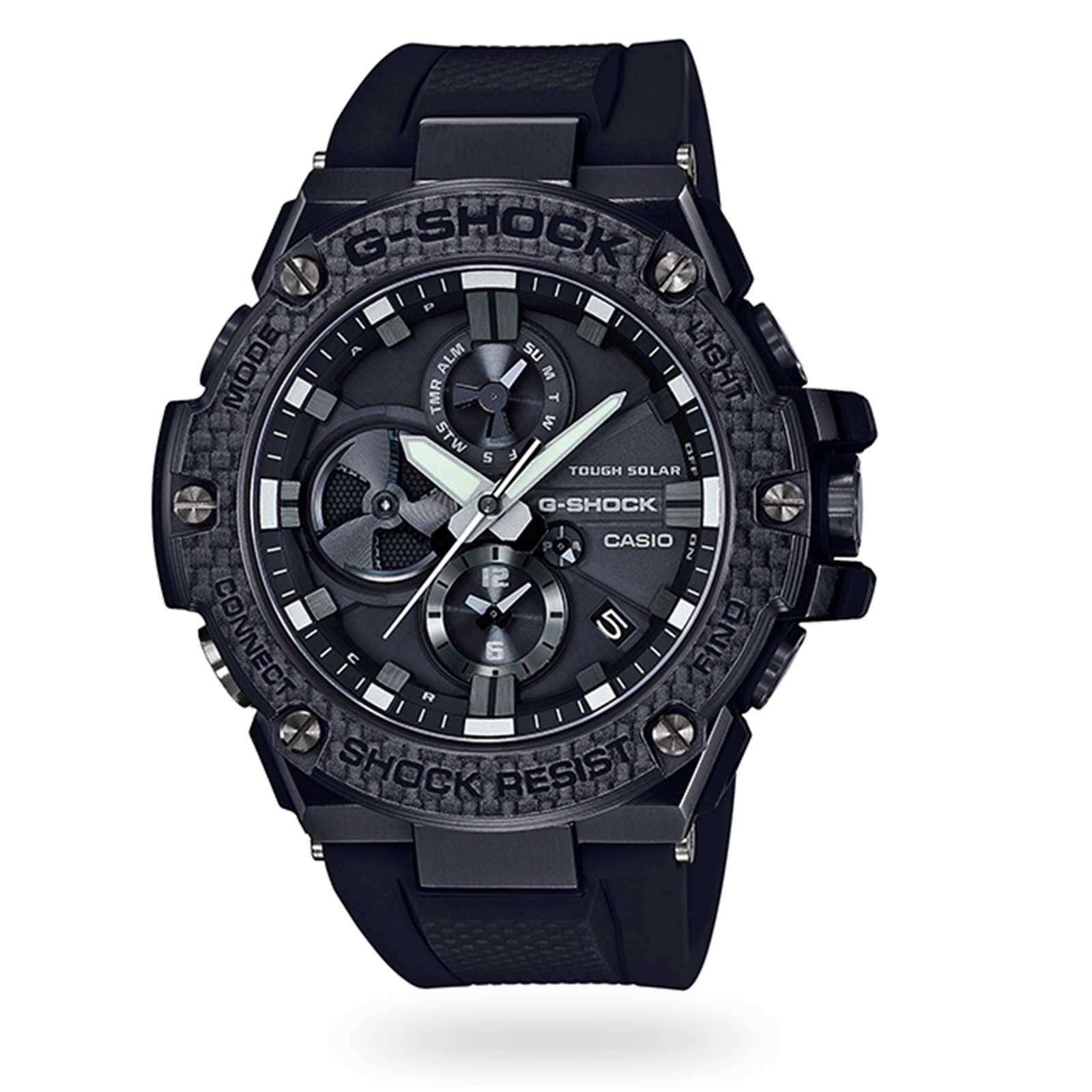 Casio G-Steel Bluetooth Triple Connect Carbon Chronograph Watch