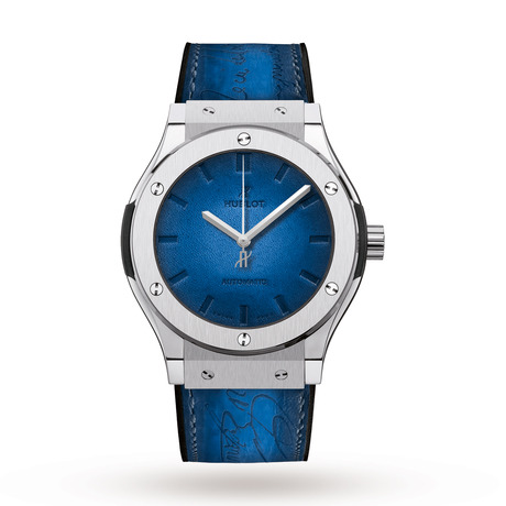 Hublot Classic Fusion Berluti Blue Mens Watch