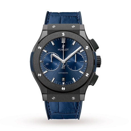 Hublot Classic Fusion Ceramic Blue Chronograph Mens Watch