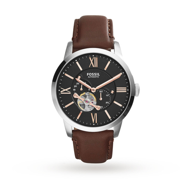 Fossil Automatic Leather Watch - Brown ME3061