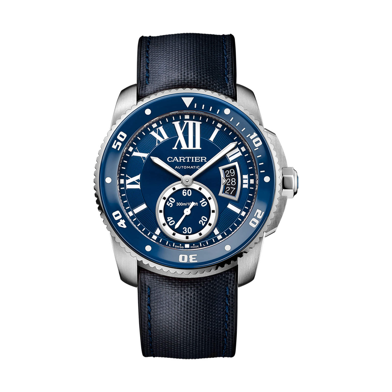 Calibre de Cartier Diver blue watch, 42 mm