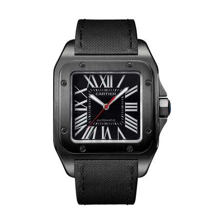 Cartier Santos 100 Carbon watch, 51.1 x 41.3 mm