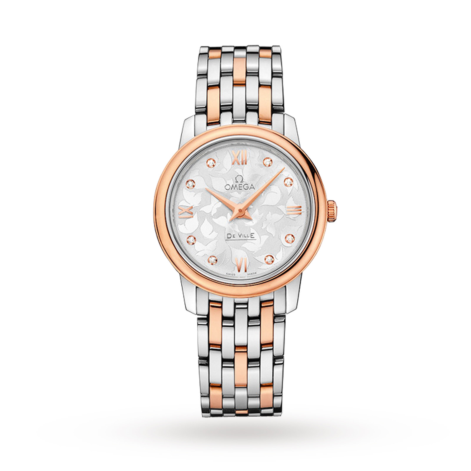 Omega De Ville Prestige Butterfly Bi-Metal Diamond Ladies Watch