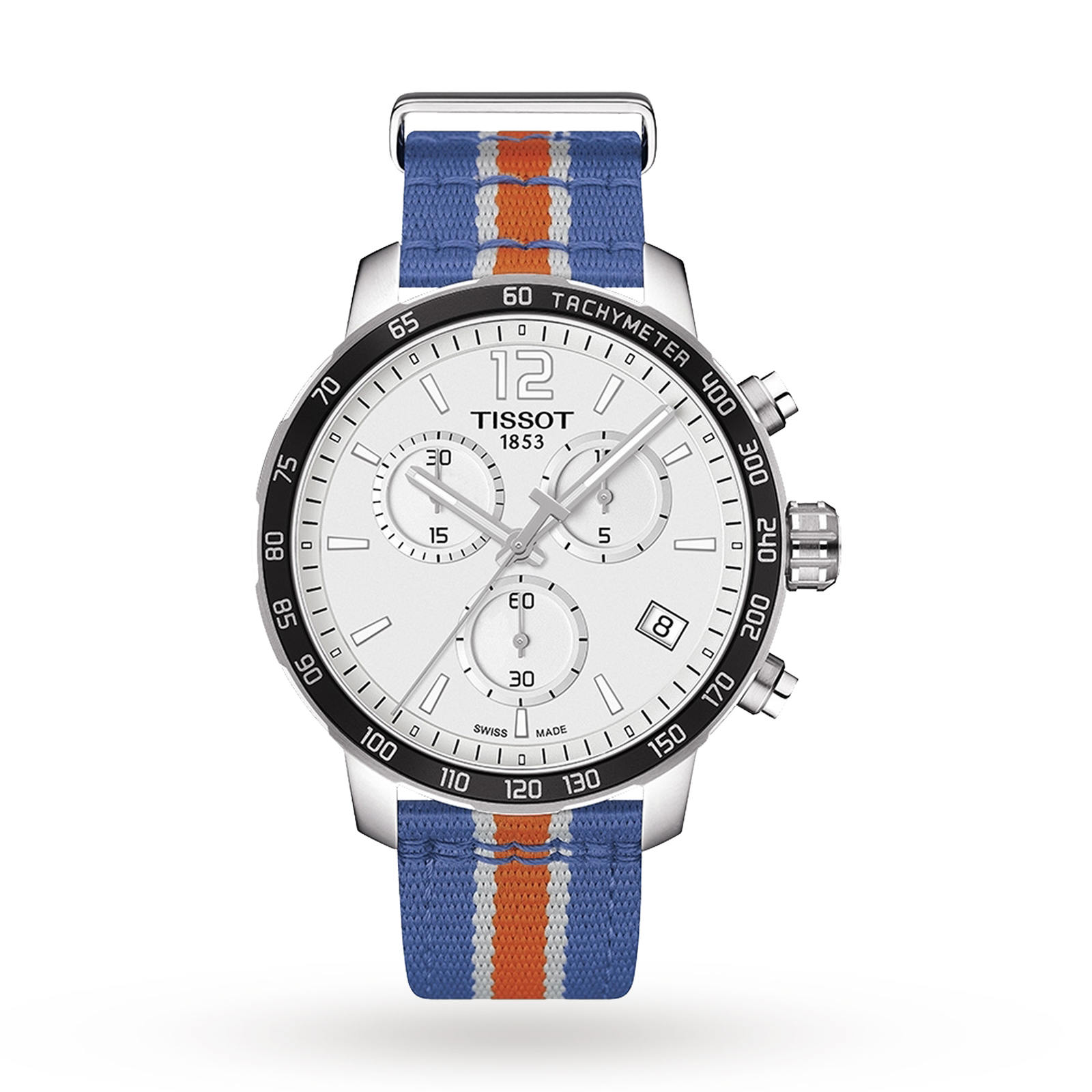 Mens Tissot Quickster NBA New York Knicks Special Edition Chronograph Watch T0954171703706