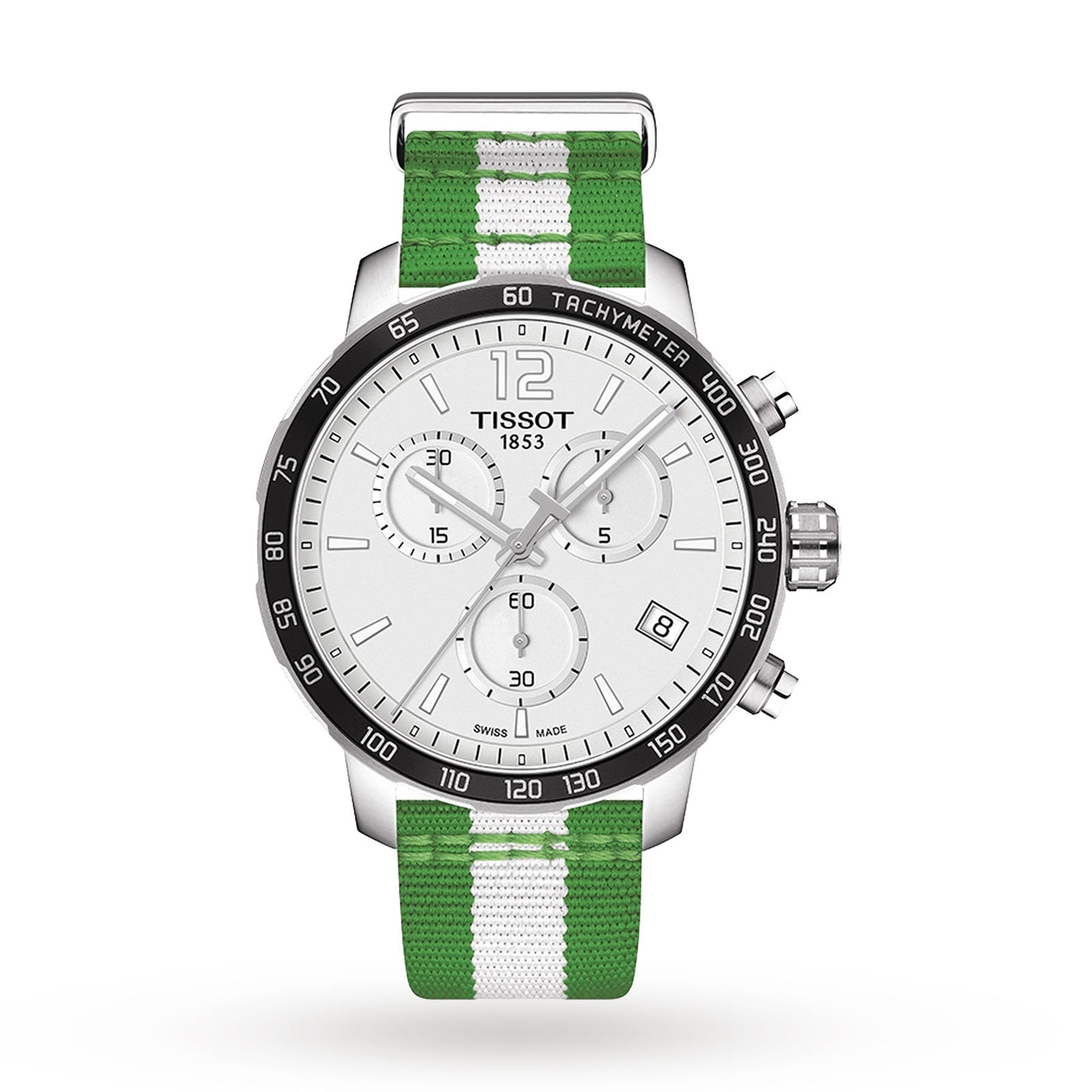 Mens Tissot Quickster NBA Boston Celtics Special Edition Chronograph Watch T0954171703717