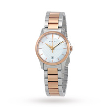 Gucci G-Timeless Ladies Two Tone Stainless Steel Watch