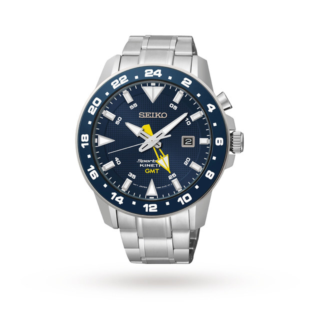 Seiko Men's Sportura GMT Kinetic Watch SUN017P1